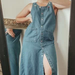 Vintage denim dress size Medium